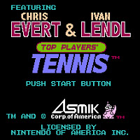 Титульный экран Evert & Lendl Top Player's Tennis
